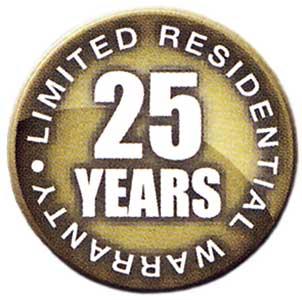 Garantie Button: 25 Jahre